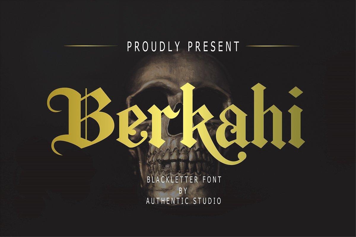 Berkahi Free Font - blackletter