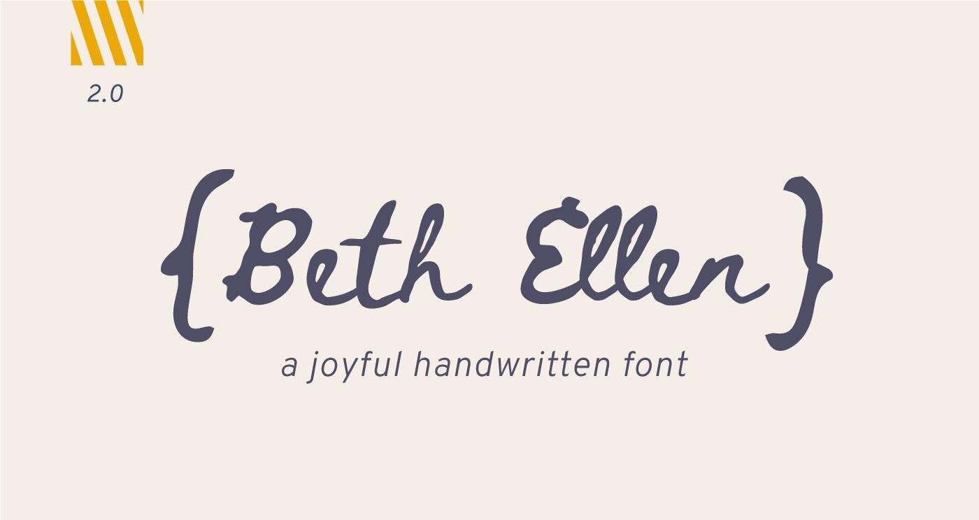 Beth Ellen Free Font - script
