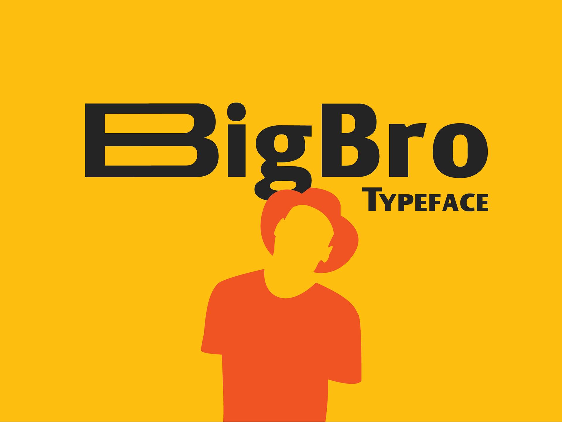 BigBro Free Font - sans-serif