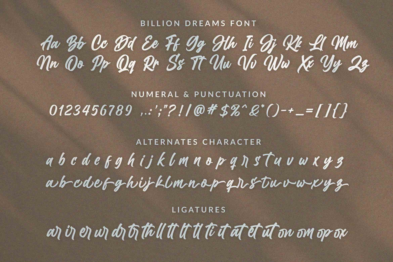 Billion Dream Free Font - script