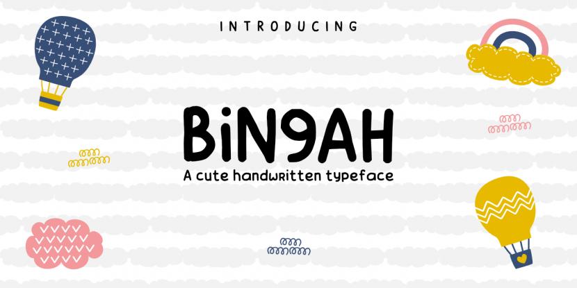 Bingah Free Font - script