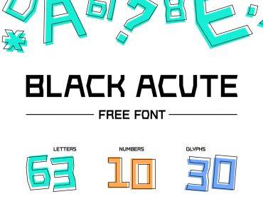 Black Acute Free Font - sans-serif, decorative-display