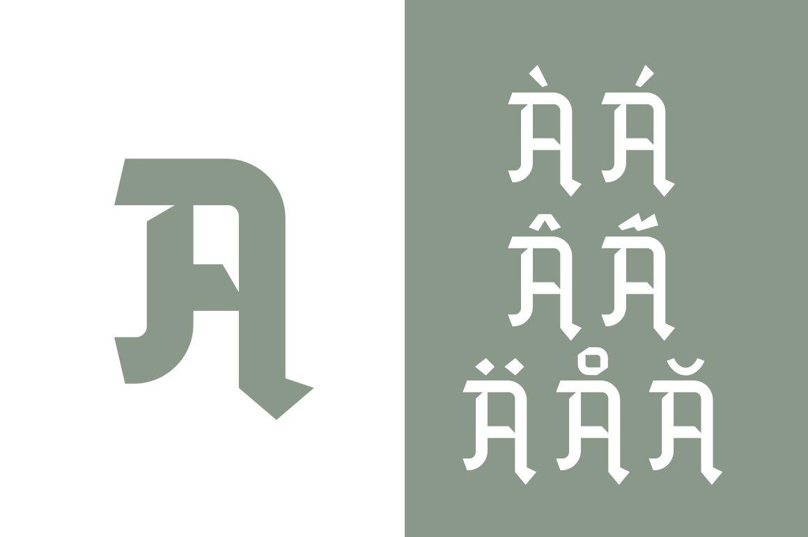 Blackhead Free Font - blackletter