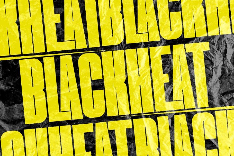 Blackheat Free Font - decorative-display