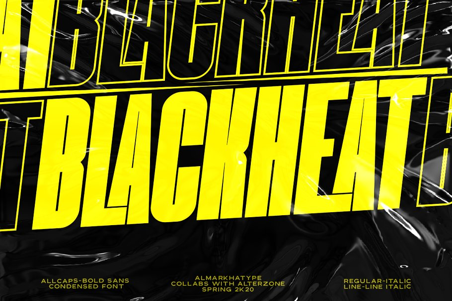 Blackheat Free Font - decorative-display