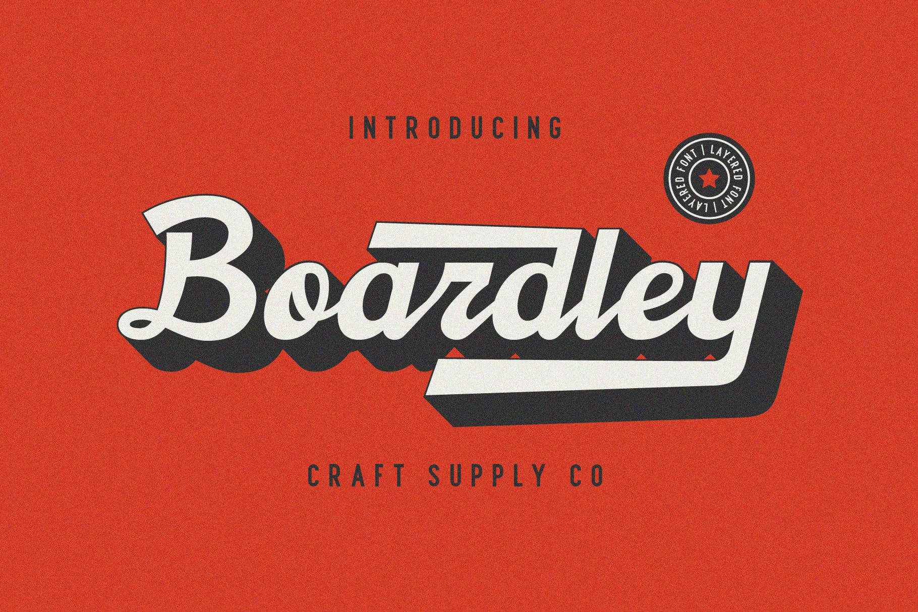 Boardley Free Script Font - script
