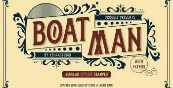 Boatman Free Font - decorative