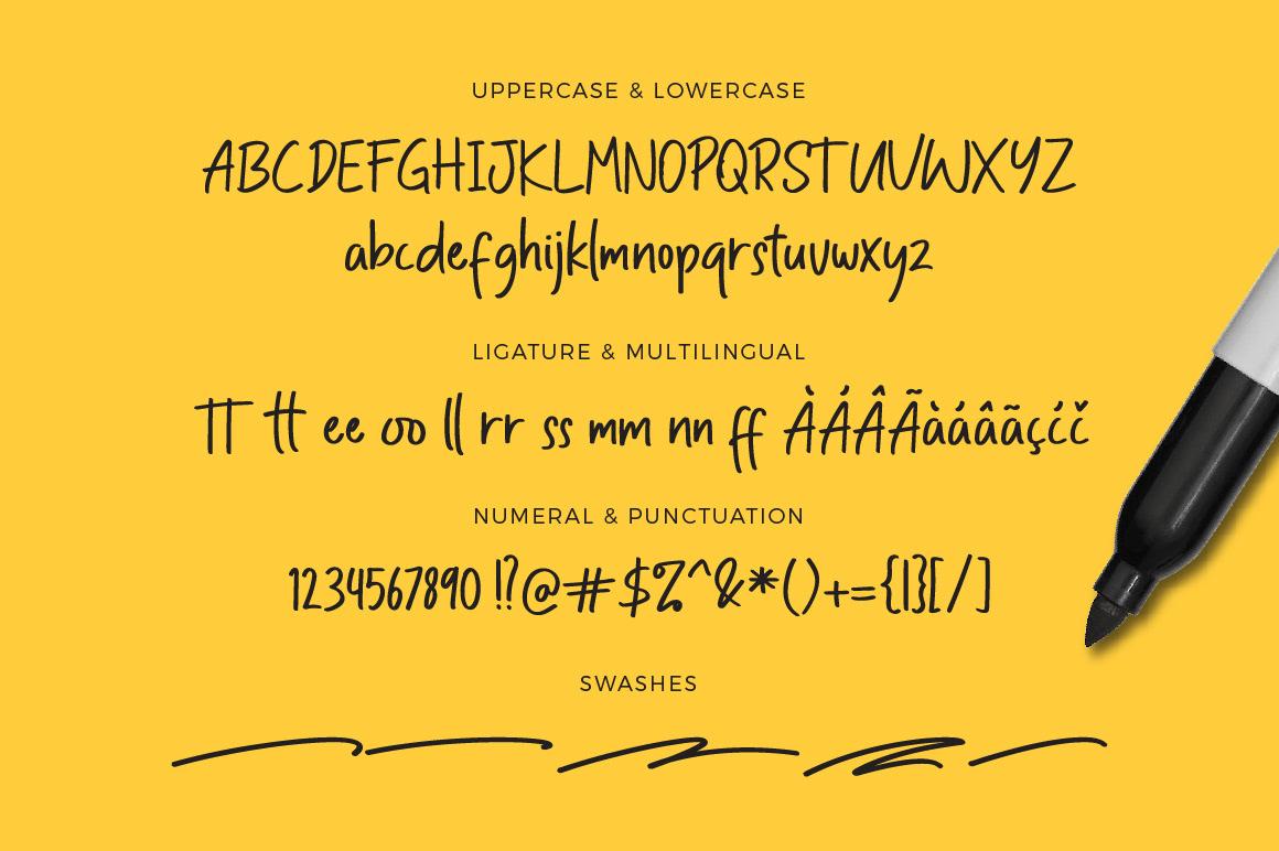 Bold Lining Free Font - script