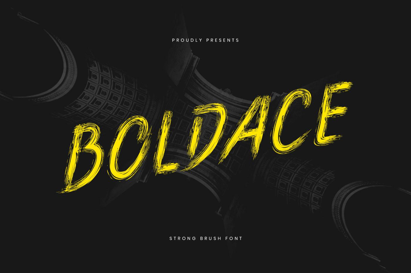 BOLDACE Free Font - script