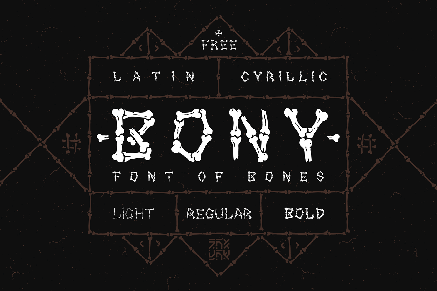 BONY Free Font - decorative-display
