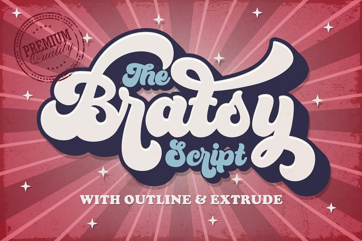 Bratsy Free Font - script