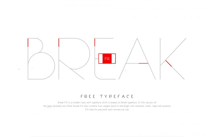 Break Fill Free Font - sans-serif