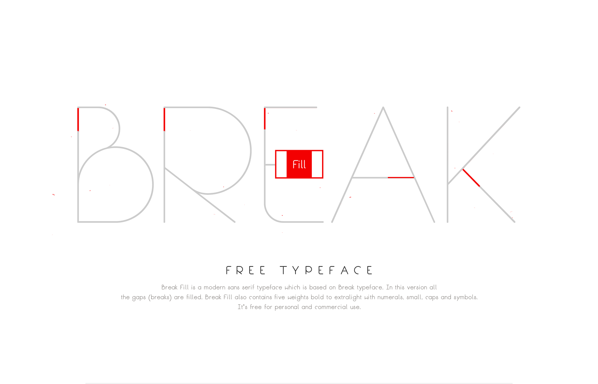 Break Fill Free Font - sans-serif