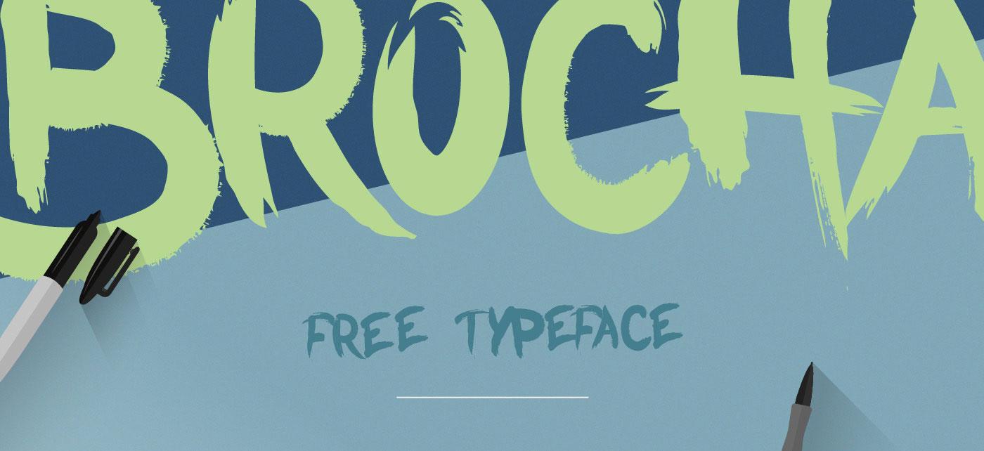 BROCHA Free Font - script