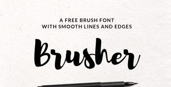 Brusher Free Font