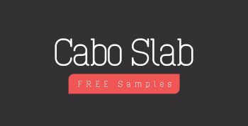 Cabo Slab Free Font - slab-serif