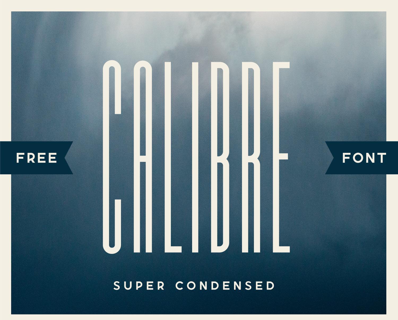 Calibre Super Condensed Free Font - sans-serif