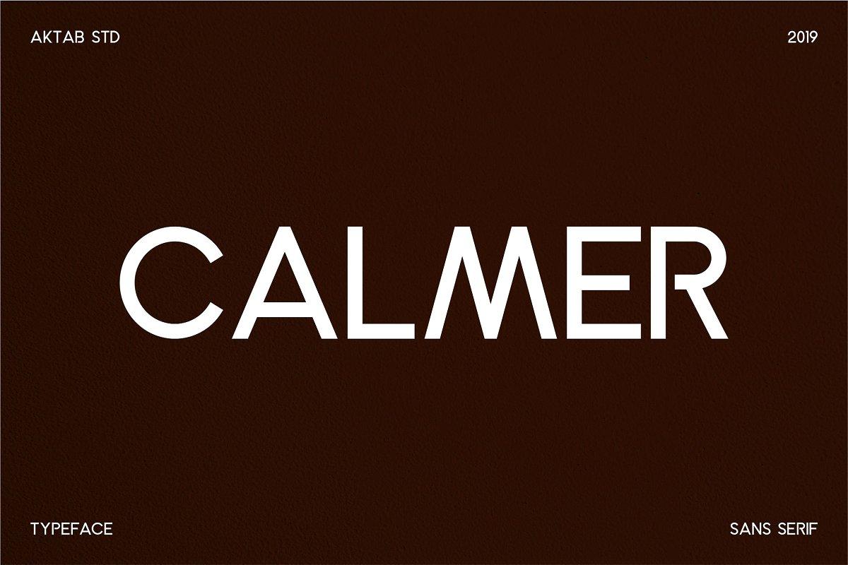 Calmer Free Font Family - sans-serif