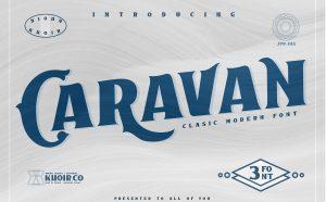 Caravan Free Font - decorative