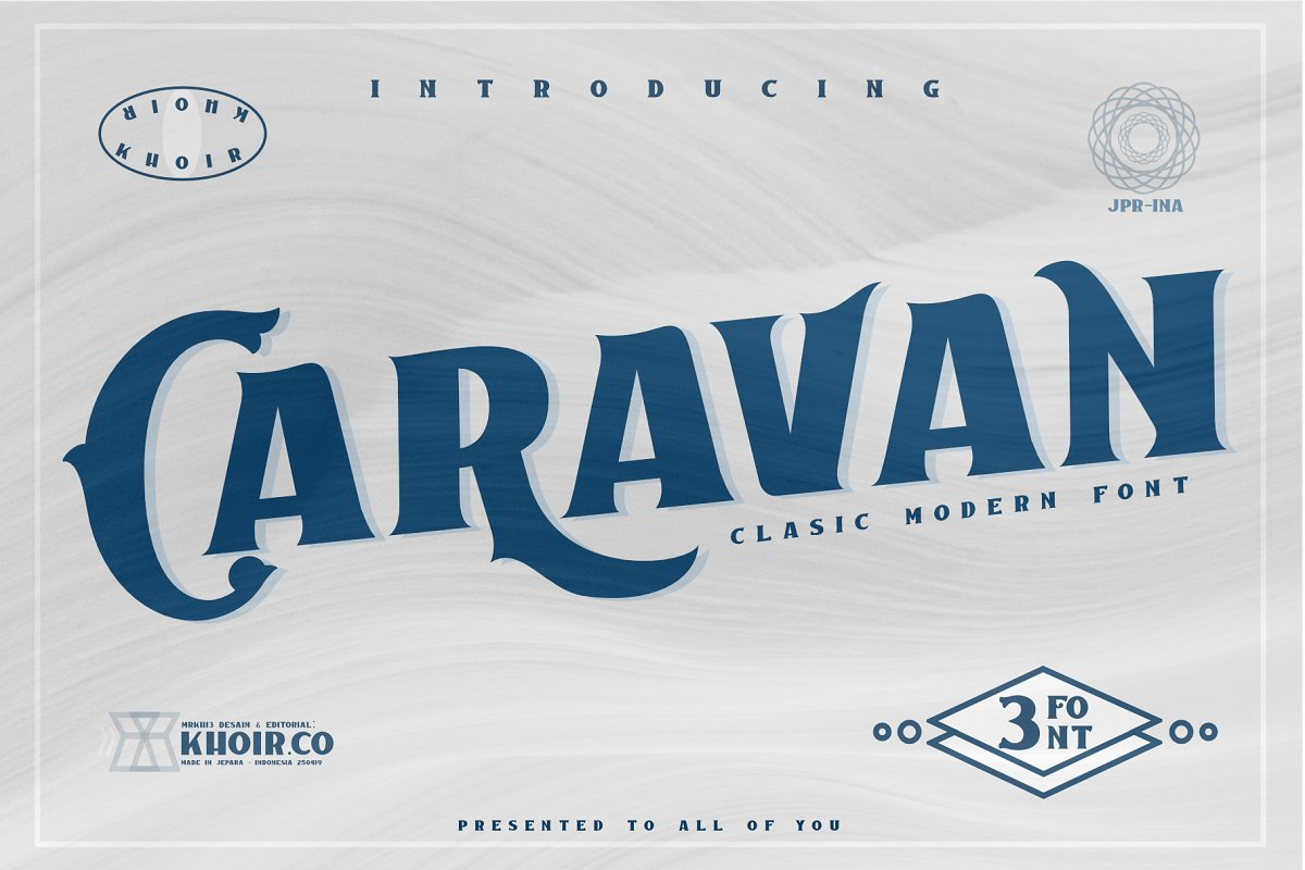 Caravan Free Font - decorative-display