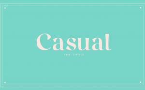 Casual Free Font - serif