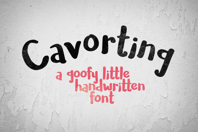Cavorting Free Font - script
