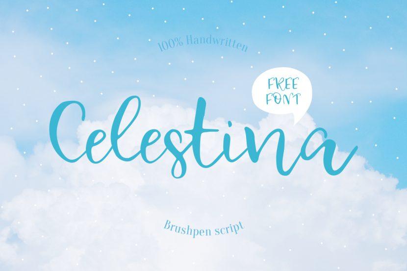 Celestina Free Font - script