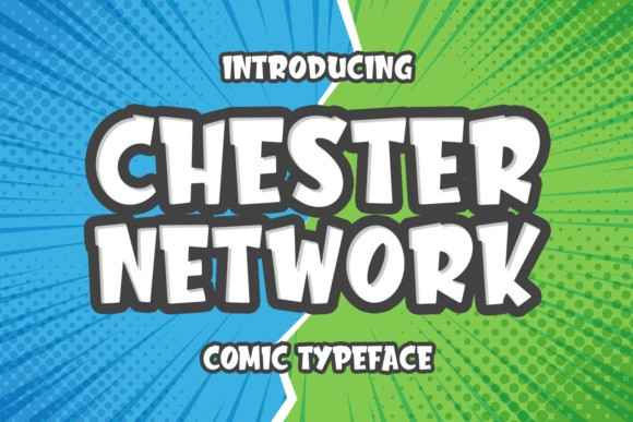 Chester Network Free Font - decorative-display