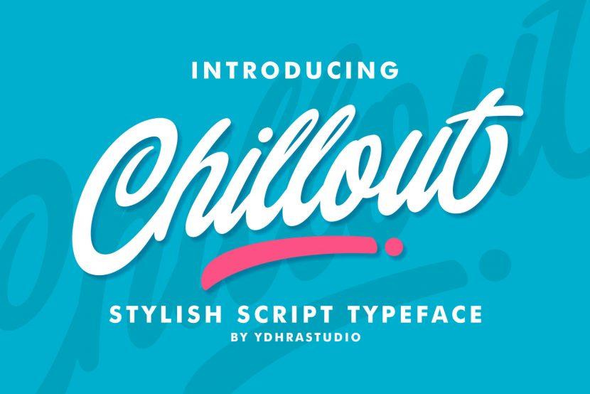 Chillout Free Font - script