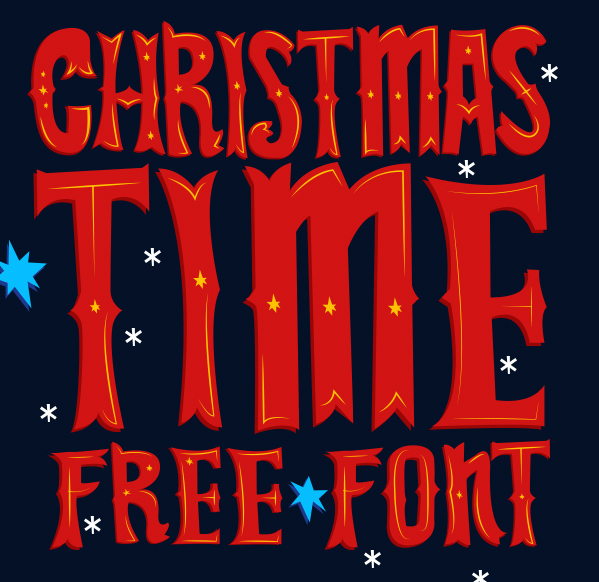 Christmas Time Free Font - decorative-display