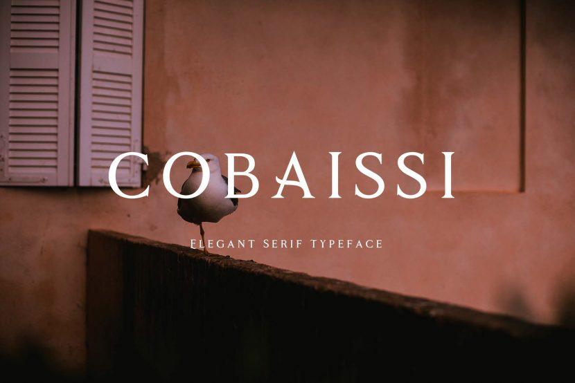 Cobaissi Free Font - serif