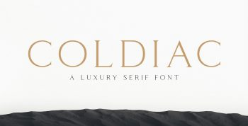 Coldiac Free Font - serif