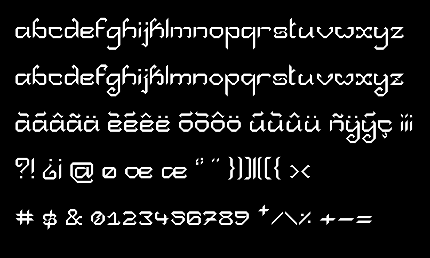 Collapse Free Font - decorative-display