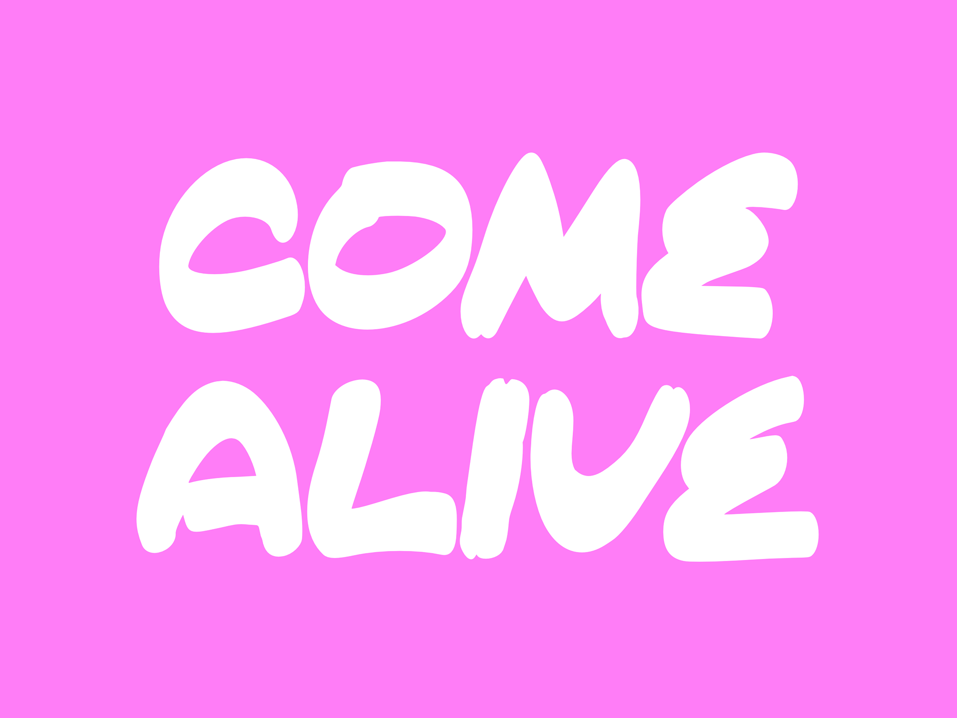 COME ALIVE Free Font - decorative-display