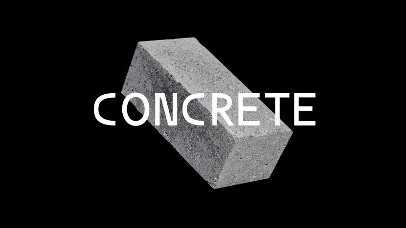 CONCRETE Free Font - sans-serif