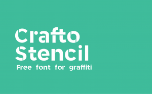 Crafto Stencil Free Font - decorative