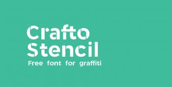 Crafto Stencil Free Font - decorative