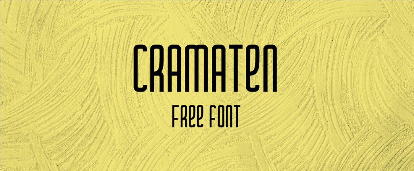 Cramaten Free Font - sans-serif, cyrillic