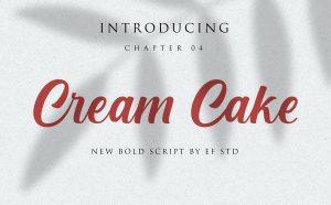 Cream Cake Free Font - script