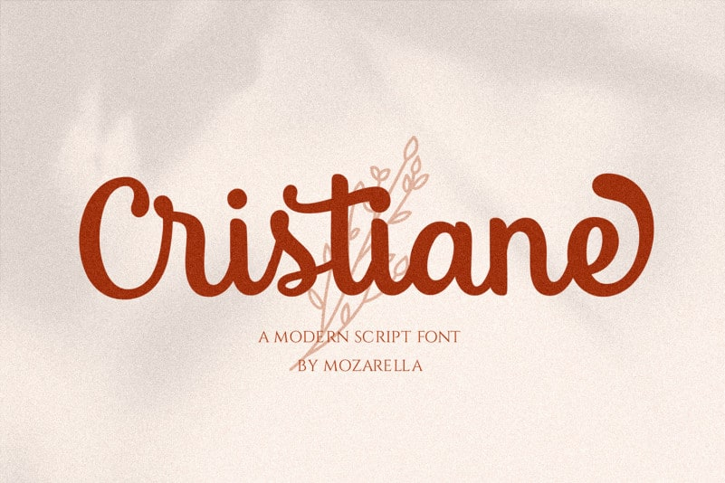 Cristiane Free Font - script