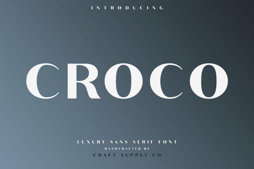 Croco Free Font Family - sans-serif