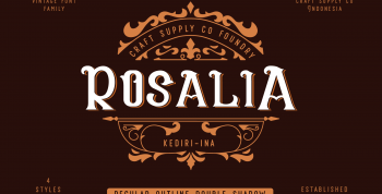 CS Rosalia Free Font - decorative
