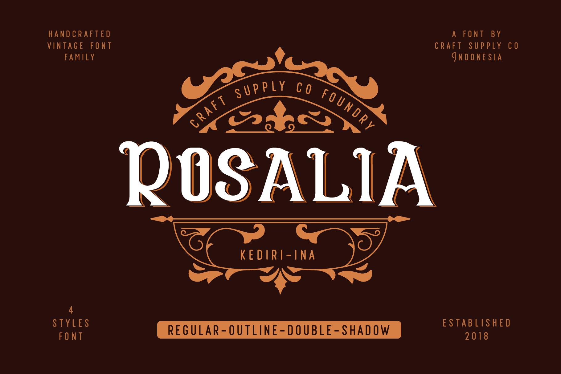 CS Rosalia Free Font - decorative-display