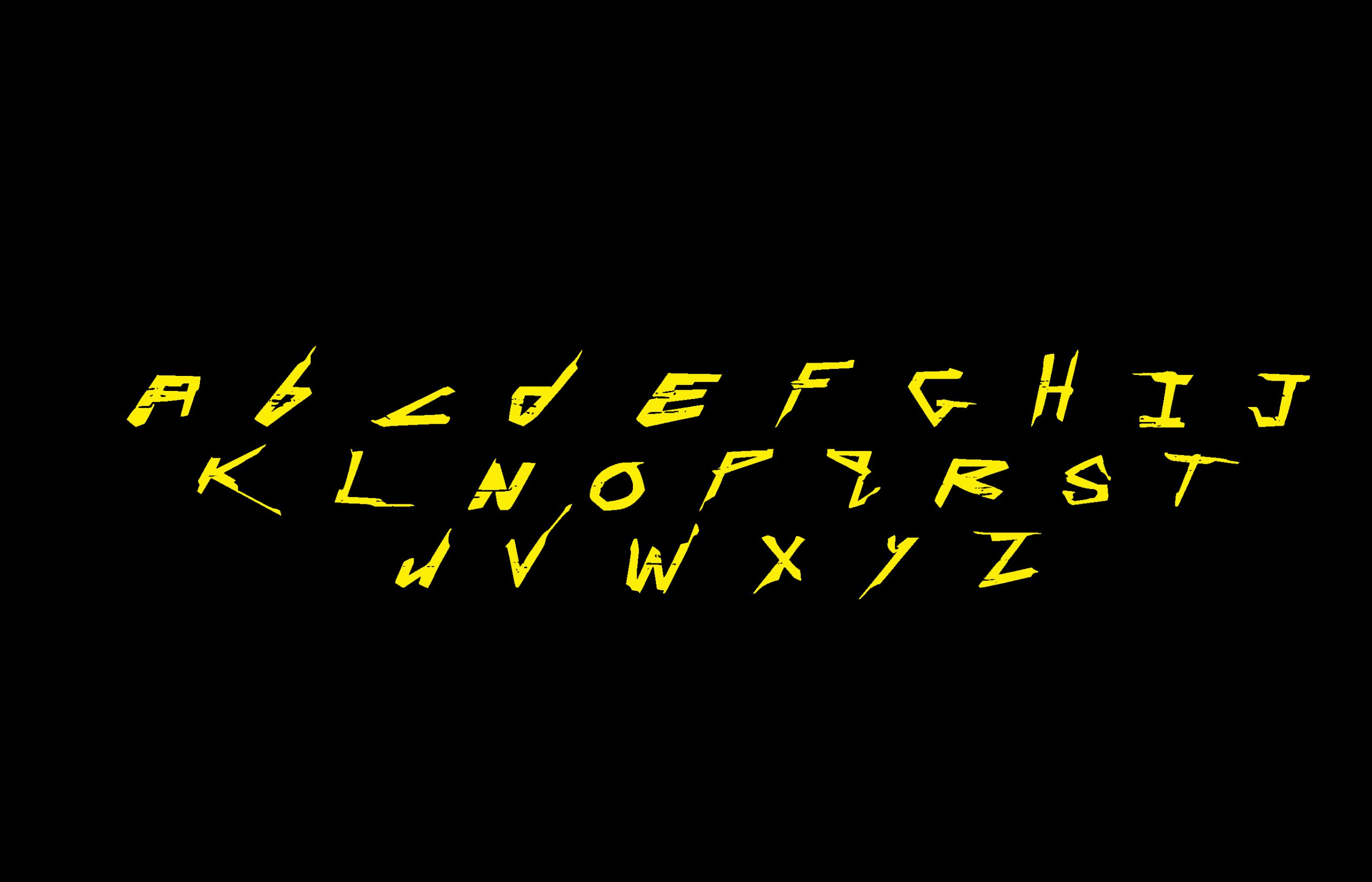 Cyberpunk 2077 Free Font - decorative-display