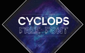 Cyclops Free Font - decorative