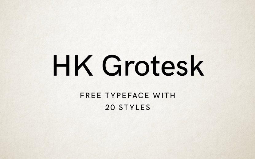 HK Grotesk Typeface