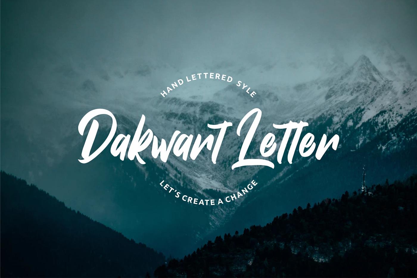 Dakwart Letter Free Font - script