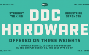DDC HARDWARE Free Font - sans-serif