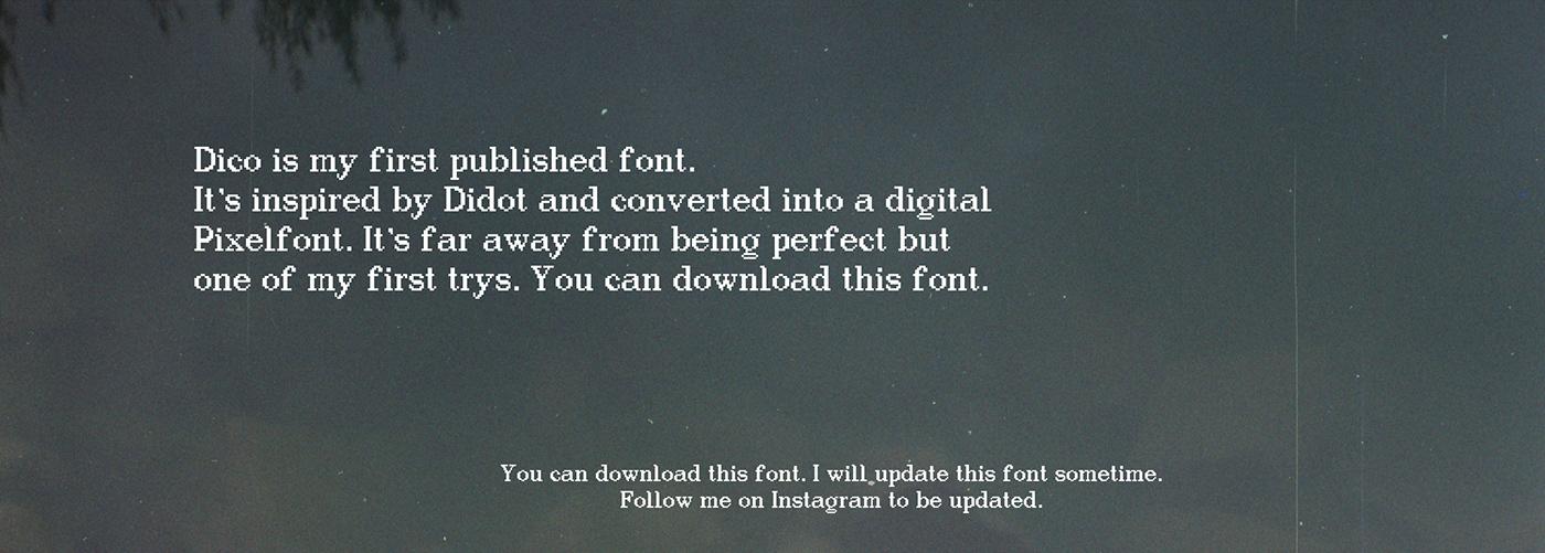 Dico Free Font - bitmap-fonts