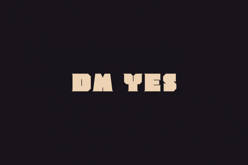 dm Yes Free Font - decorative